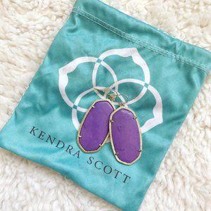 Kendra Scott Danielle Earrings In Purple